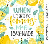 hand drawn typography poster.... | Shutterstock .eps vector #1086005744