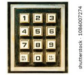 vintage weathered keypad with... | Shutterstock . vector #1086007274