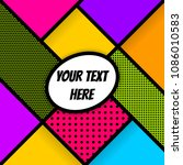 pop art comics book magazine... | Shutterstock . vector #1086010583