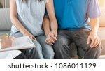 patient couple having doctor or ... | Shutterstock . vector #1086011129