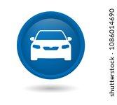 car icon  isolated on elegant... | Shutterstock .eps vector #1086014690