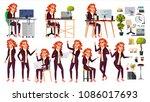 office worker vector.woman.... | Shutterstock .eps vector #1086017693