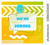 we are hiring template  banner... | Shutterstock .eps vector #1086020600