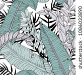 Floral Seamless Leaves Pattern...