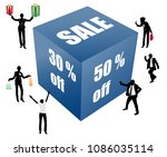 big sale box with business... | Shutterstock .eps vector #1086035114