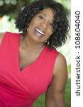 a happy senior african american ... | Shutterstock . vector #108604040