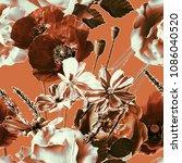 art vintage blurred monochrome...   Shutterstock . vector #1086040520