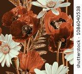 art vintage blurred monochrome...   Shutterstock . vector #1086040538