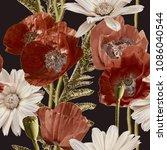 art vintage blurred monochrome...   Shutterstock . vector #1086040544