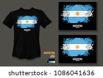 t shirt design argentina team...   Shutterstock .eps vector #1086041636