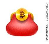 bitcoin wallet concept icon ... | Shutterstock .eps vector #1086046460