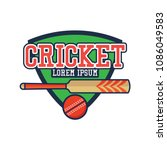 cricket logo with text space... | Shutterstock .eps vector #1086049583