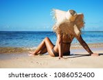 summer lifestyle portrait of... | Shutterstock . vector #1086052400