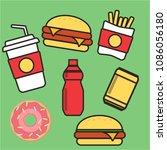 junk food icon. breakfast... | Shutterstock .eps vector #1086056180