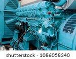 diesel generator green | Shutterstock . vector #1086058340