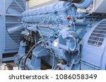 diesel generator blue | Shutterstock . vector #1086058349