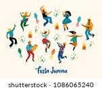 festa junina. vector... | Shutterstock .eps vector #1086065240