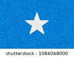 somalia flag carpet textured ... | Shutterstock . vector #1086068000