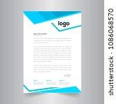 simple color vector letter head ... | Shutterstock .eps vector #1086068570