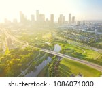 aerial view fourth ward... | Shutterstock . vector #1086071030