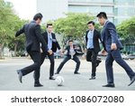 handsome asian businessmen... | Shutterstock . vector #1086072080