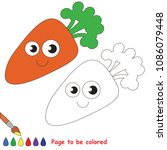 funny carrot vegetable to be... | Shutterstock .eps vector #1086079448