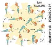 cute yoga kid. yoga... | Shutterstock .eps vector #1086080639