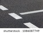 White Road Marking Painted On...