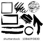 hand drawn scribble symbols... | Shutterstock .eps vector #1086093830