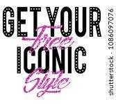 stylish trendy slogan tee t... | Shutterstock .eps vector #1086097076