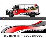 car wrap design vector. simple... | Shutterstock .eps vector #1086100010