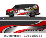 car wrap design vector. simple... | Shutterstock .eps vector #1086100193