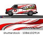 van wraps design vector. simple ...   Shutterstock .eps vector #1086102914