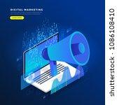 flat design concept digital... | Shutterstock .eps vector #1086108410