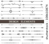 Vector set of calligraphic design elements and page decor | Shutterstock vector #108610874