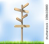 direction road wooden signs.... | Shutterstock .eps vector #108610880