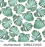 tropical seamless pattern with... | Shutterstock .eps vector #1086111410
