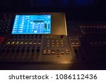 workplace of sound engineer. | Shutterstock . vector #1086112436