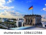 German Flag Waving In The Wind...