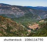 village of vernet les bains ... | Shutterstock . vector #1086116750