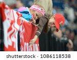 minsk  belarus   may 7  fans of ... | Shutterstock . vector #1086118538