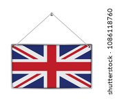 flag of united kingdom. the... | Shutterstock .eps vector #1086118760