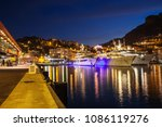 monaco principality at night ... | Shutterstock . vector #1086119276