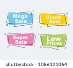 collection of sale discount... | Shutterstock .eps vector #1086121064