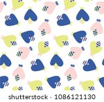 vector seamless pattern with... | Shutterstock .eps vector #1086121130