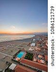 evening on the beach of...   Shutterstock . vector #1086121739