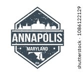 annapolis maryland travel stamp ... | Shutterstock .eps vector #1086122129
