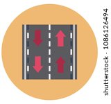 road flat isolated vector icon ... | Shutterstock .eps vector #1086126494