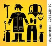 fire equipment  fire tool  fire ...   Shutterstock .eps vector #1086128480