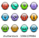 mother's day vector icons on... | Shutterstock .eps vector #1086139886